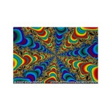 Fractal C~19 Rectangle Magnet (10 pack)