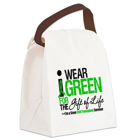 I Wear Green SCT Survivor Canvas Lunch Bag