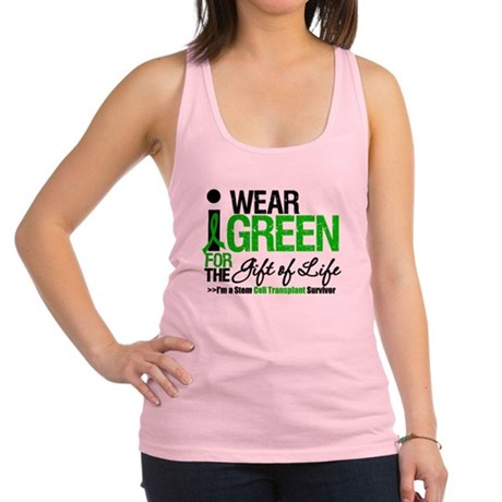 I Wear Green SCT Survivor Racerback Tank Top