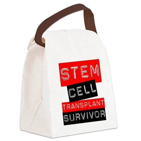 scttransplantsurvivorlabelred.png Canvas Lunch Bag