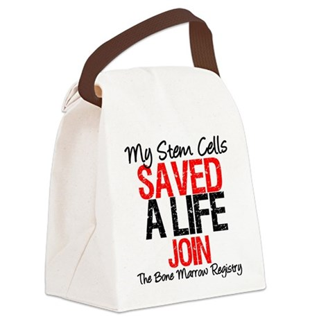 mystemcellsavedalifejoinbmred.png Canvas Lunch Bag