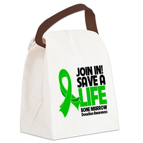 Save a Life Bone Marrow Canvas Lunch Bag