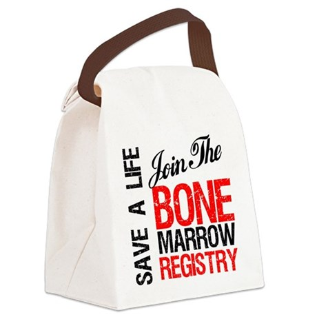 jointhebonermarrowregistryred.png Canvas Lunch Bag