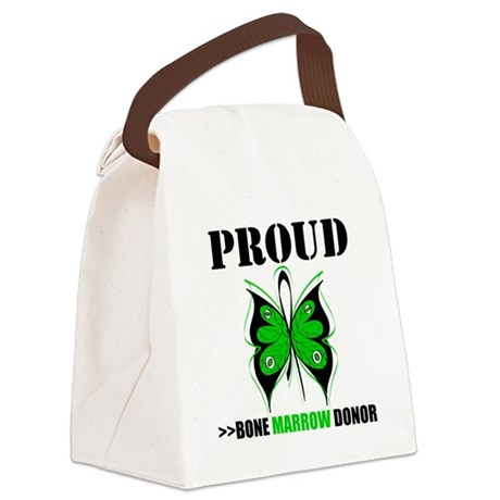 proudbmtdonor3.png Canvas Lunch Bag