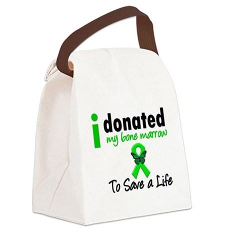 idonatedbmtsavealifebutterfly.png Canvas Lunch Bag
