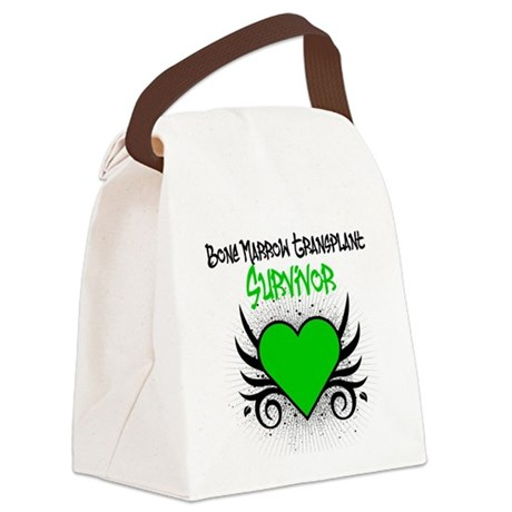 BMT Survivor Grunge Heart Canvas Lunch Bag