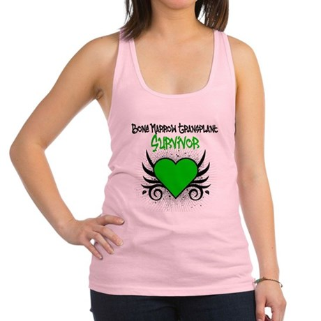 BMT Survivor Grunge Heart Racerback Tank Top