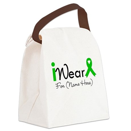 I Wear Green Ribbon Canvas Lunch Bag