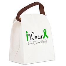 I Wear Green Ribbon Canvas Lunch Bag