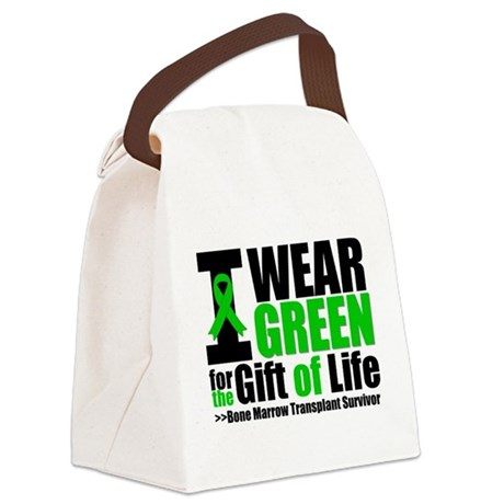 I Wear Green BMT Survivor.png Canvas Lunch Bag