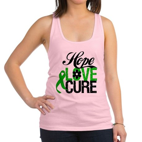Hope Love Cure SCT.png Racerback Tank Top