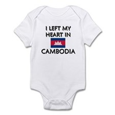 I Left My Heart In Cambodia Infant Bodysuit