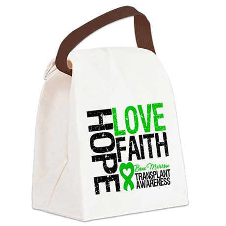 BMT Hope Love Faith Canvas Lunch Bag