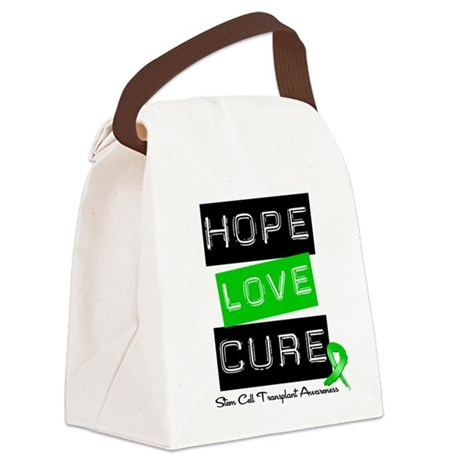 SCT Survivor Heart Ribbon Canvas Lunch Bag