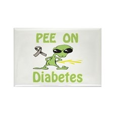 Pee on Diabetes Rectangle Magnet