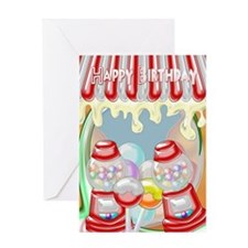Candy Shop Birthday Greeting Card