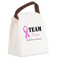 Breast Cancer Team Canvas Lunch Bag