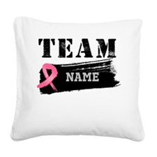 Team Breast Cancer Square Canvas Pillow