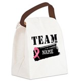Team Breast Cancer Canvas Lunch Bag