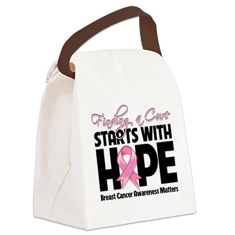 Breast Cancer Finding a Cure Canvas Lunch Bag