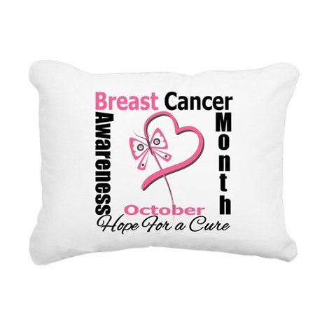 Breast Cancer Month Rectangular Canvas Pillow