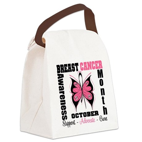 Breast Cancer Month Canvas Lunch Bag