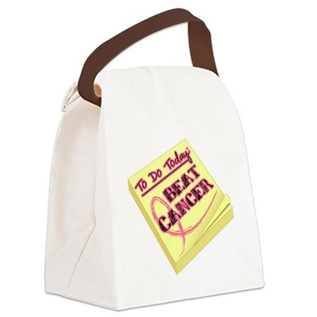 To Do Beat Cancer Canvas Lunch Bag