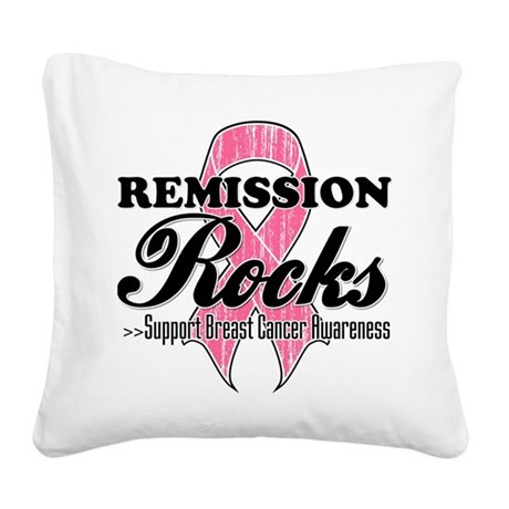 Remission Rocks Square Canvas Pillow