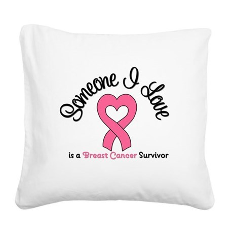 isupportbcsister.png Square Canvas Pillow