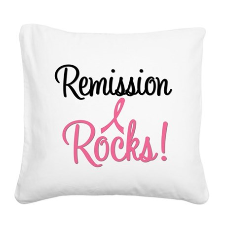remissionrockspink Square Canvas Pillow