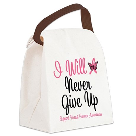 iwillnevergiveup.png Canvas Lunch Bag