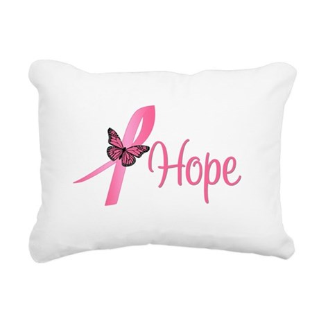 Hope Breast Cancer Rectangular Canvas Pillow