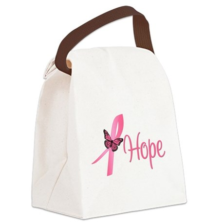 Hope Breast Cancer Canvas Lunch Bag