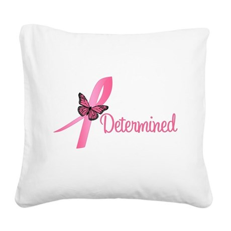 determinedbutterfly.png Square Canvas Pillow