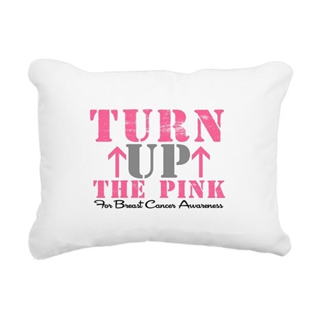 turnupthepink2.png Rectangular Canvas Pillow