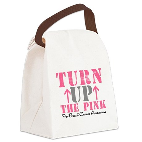 turnupthepink2.png Canvas Lunch Bag