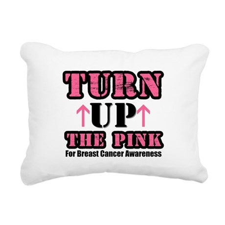turnupthepink.png Rectangular Canvas Pillow