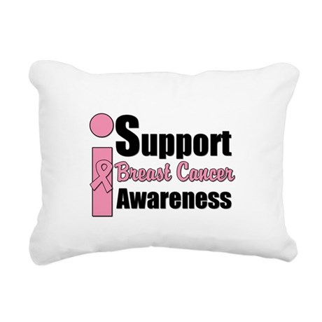 isupportbcawarenesspink.png Rectangular Canvas Pil