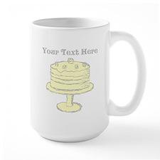 Yellow Cake and Text. Mug