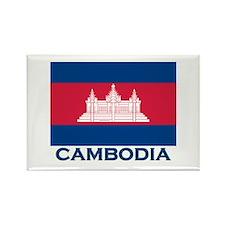Cambodia Flag Merchandise Rectangle Magnet