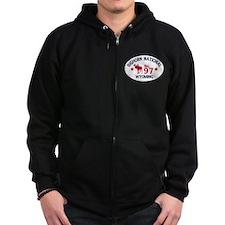 Bighorn Moose Badge Zip Hoodie