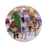 Treat for a fawn Great Dane Ornament (Round)