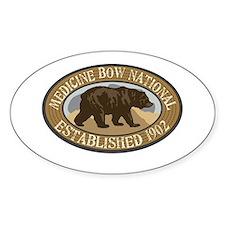 Medicine Bow Brown Bear Badge Decal