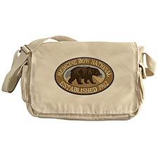 Medicine Bow Brown Bear Badge Messenger Bag