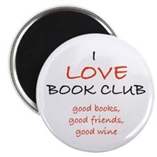 "I Love Book Club 2.25"" Magnet (10 pack)"