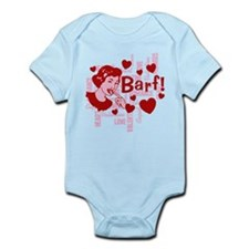 Hearts And Romance Barf Infant Bodysuit