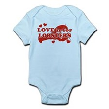 Love Is For Lobsters Infant Bodysuit