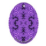 Fractal FS~01 Porcelain Oval Ornament