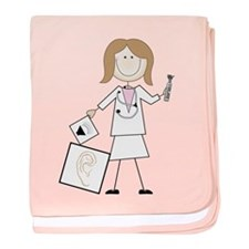Female Audiologist baby blanket
