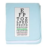 Eye Chart baby blanket